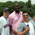 Chris Arredondo and Al DeBerry show their Rangers team spirit