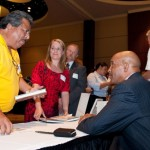 Drew Pearson visits with HATC member