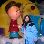 KRISTIE VENTO CELEBRATES CHARLIE BROWN CHRISTMAS AT THE ICE EXHIBIT