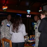 HATC BOARD MEMBERS SANDEE TREPTOW & TINA PATEL THANK OUR TROOPS AT THE GAYLORD