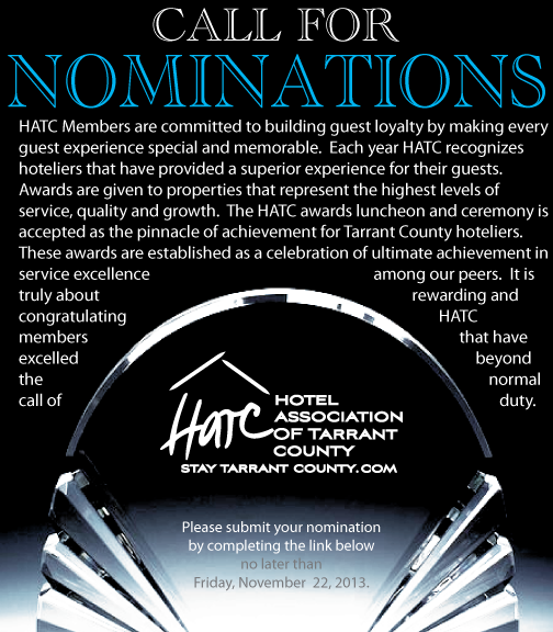 Nominate your staff today for HATC year end awards