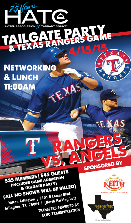 Rangers Tailgate Party 2015