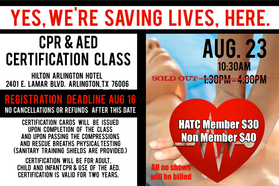 Additional Cpr Aed Certification Class Hotel Association Of